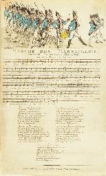 Manuscript of La Marseillaise