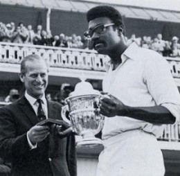 Clive Lloyd with the first Cricket World Cup