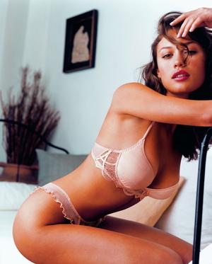 Olga Kurylenko models in underwear