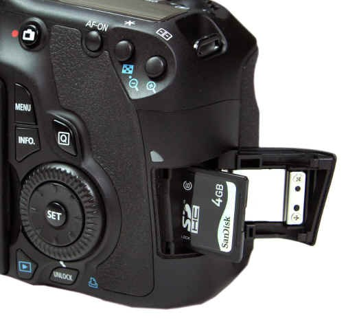 Canon EOS 60D right side