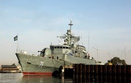 The British built Alvand, now Iranian
