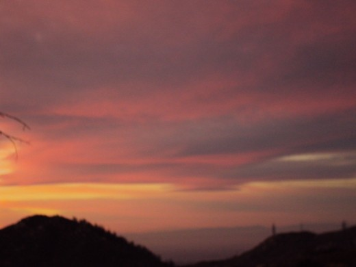 Purple tones of the sunset.