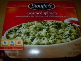 Step 1 - Take 2 packages of Creamed Spinach from freezer