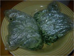Step 1B - Take out packets from microwave when done cooking
