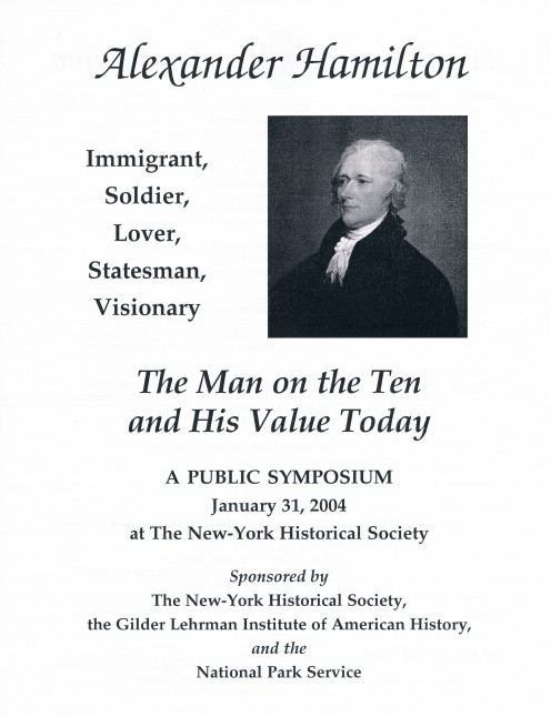 A flier from the Alexander Hamilton-focused symposium where Brookhiser was a panelist. His latest book is about William F. Buckley and Conservatism.