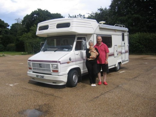 Our first motorhome - coach built, 20 years old and leaky but we travelled 10,000 miles in one year.