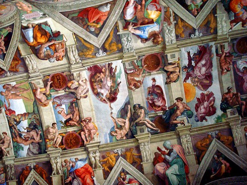 The Sistine Chapel ceiling. Photo by JosephLeonardo (flickr)