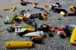 Legos in disarray