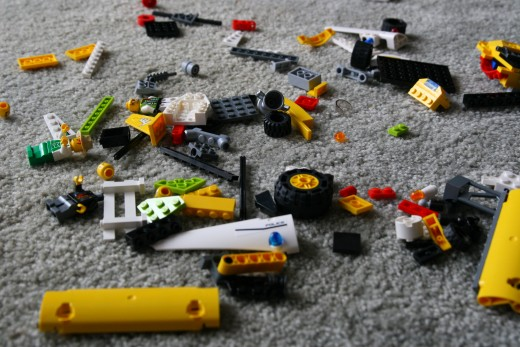 Legos in disarray