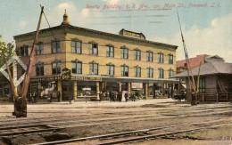 Realty Building, Railroad Avenue, corner of Main Street, Freeport, Long Island, NY. Freeport is just southeast of Hewlett.
