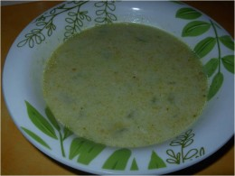 Cream of Romaine and Cucumber Soup