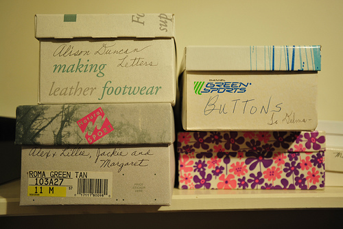 Organise and label every box to ensure you know what's in what. Even making a little list and sticking it with tape on the top of the box helps!