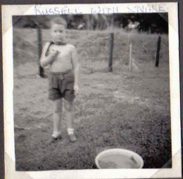 1960 - me with snake