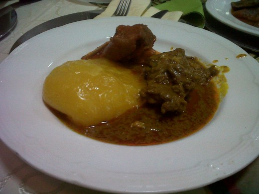 this is Starch and Banga soup.