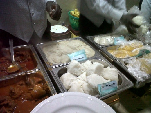 pounded yam and some other types of Nigerian Food