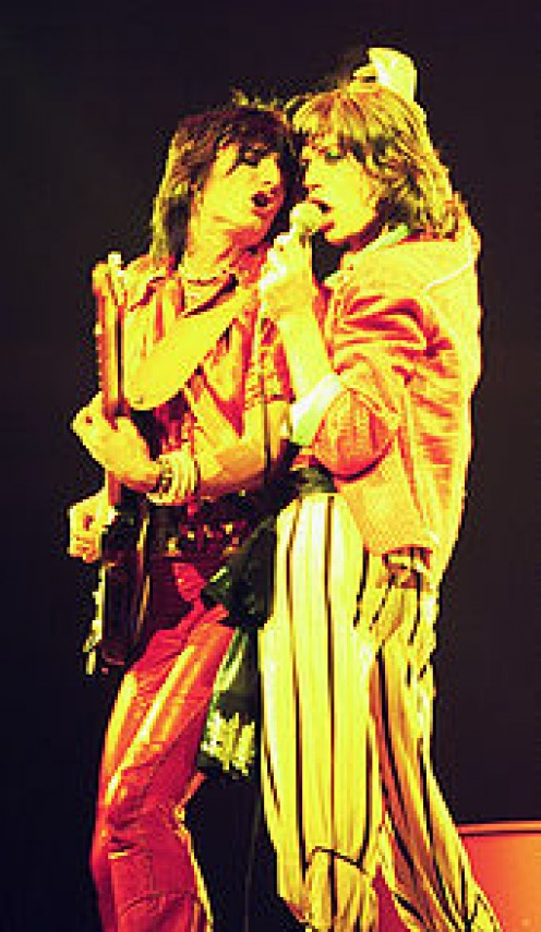Woody and Mick Jagger