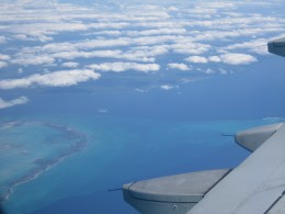 Flying into Grand Cayman