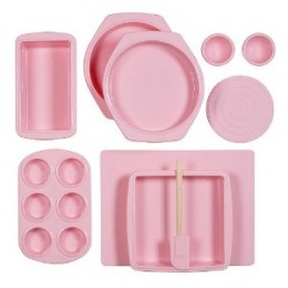 Silicone Solutions 10-pc. Bake and Serve Set - Pink by Minnesota Rubber