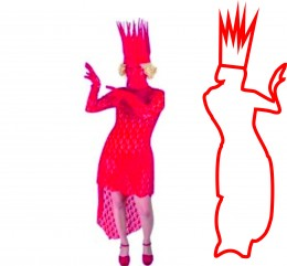 Lady Gaga Red Queen Costume
