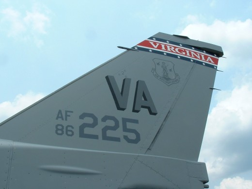 F-16C 86-225 of the Virginia ANG