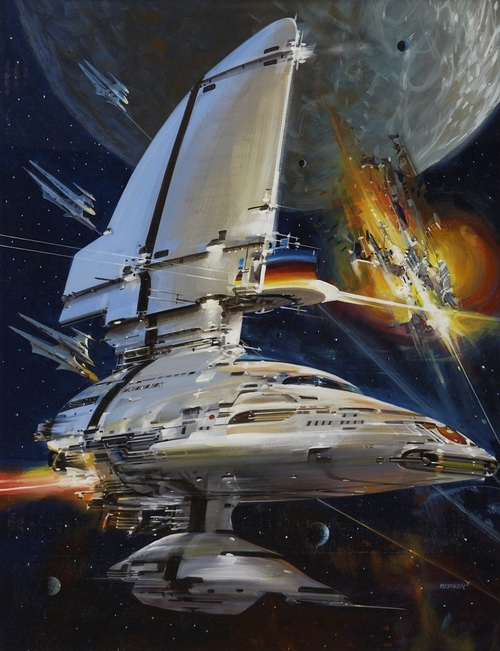 Chronicles of the Lensman - art by John Berkey