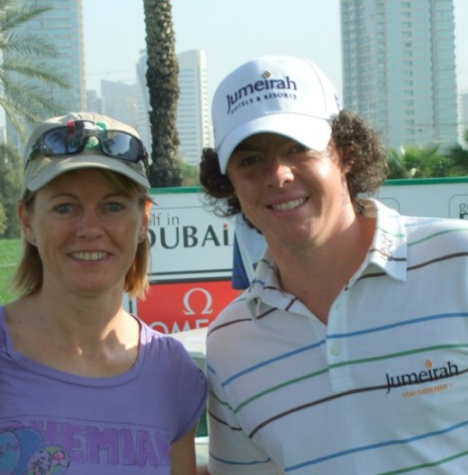 Myself and Rory McIlroy at the 2010 Dubai Desert Classic Pro-Am