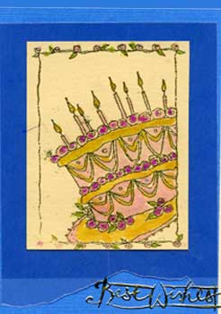 Birthday Card Created With Rubber Stamps, Heat Embossed and Colored With Twinkling H2Os