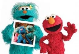 Elmo and Rosita. Two friendly monsters.