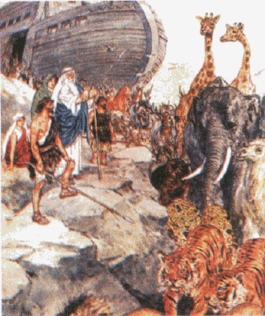 Noah and His sons Shem Ham and Japheth