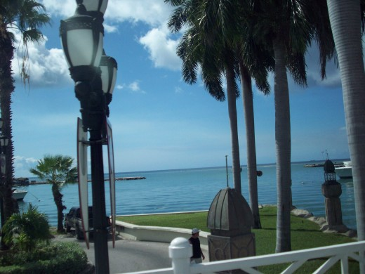 Walk along seafront, Barbados