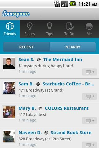 Foursquare Social Networking App