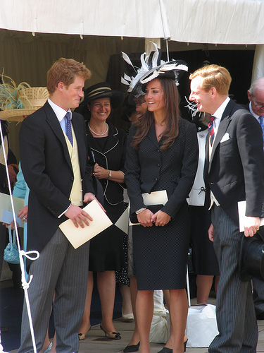 Kate with Prince Harry at the Garter Procession