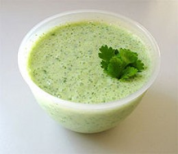 Raita is a condiment made with yogurt and popular in India and Pakistan. source Wikipedia - Health Benefits of Yogurt, Yoghurt, Yogourt or Yoghourt