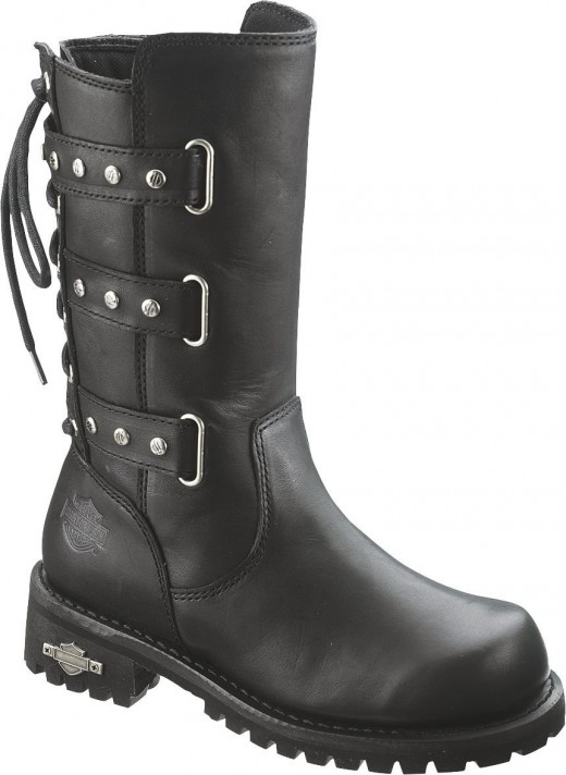 Beautiful Harley Davidson Womens Leather Pull On Riding Mid Calf Biker Motor Cycle Boots | EBay