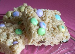 Easter M&M Rice Krispie Treats