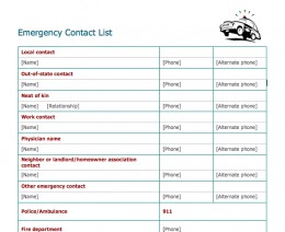 company phone contact list template