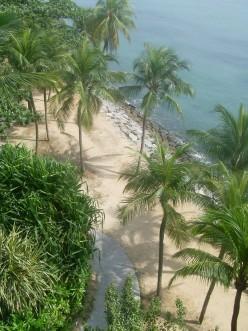 Beach on Sentosa Island.