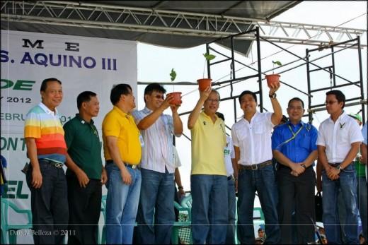 President Benigno C. Aquino III participated in the El Verde Movement in Camarines Sur (Photo by Dandy Belleza)