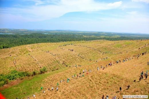 Aerial view of the El Verde Participantsat Sto. Nino, Pili, Camarines Sur (Photo by El Verde)