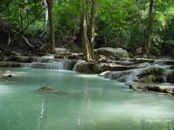 Erawan Waterfalls in Kanchanaburi Province Thailand--Travel Thailand  Series