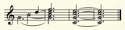 The major-minor (dominant) seventh chord, resolving normally to its tonic triad.
