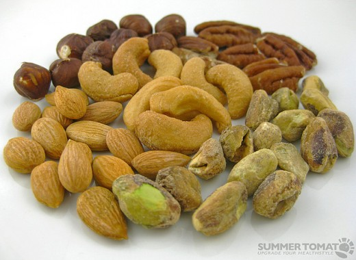 Nuts contain, high content of fats.