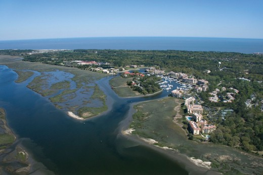View From The Air Of Hilton Head Island South Carolina