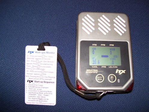 Portable carbon monoxide meter that scans other gases.