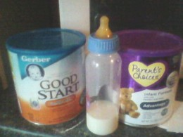 The infant formula at my house. We've used several different brands.