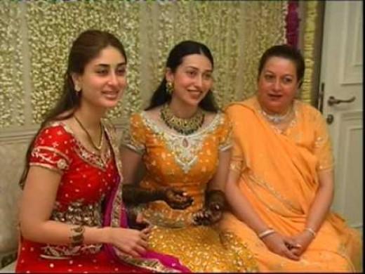 Karishma with mom and sister Kareena