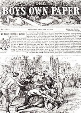The very first issue of Boy's Own Paper...image from Wikipedia