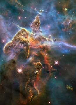 We see through a narrow spectrum known as light.  Can you even begin to contemplate how many universes there might be?...