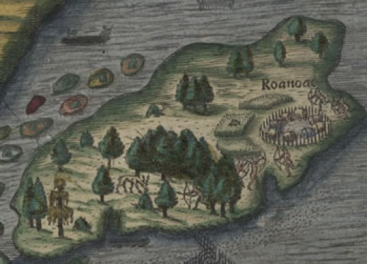 In 1587, Roanoke was the first English settlement, but it mysteriously disappeared. Admittedly, this was seven years before the calendar round, but it lead the way to Plymouth Rock.