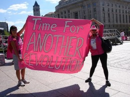 You can count on Code Pink to make a showing wherever there are commies and terrorists.